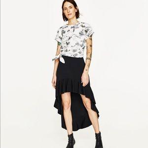 Zara Tops - Zara Cactus Mountain Tide Printed Cuffed Tied Top